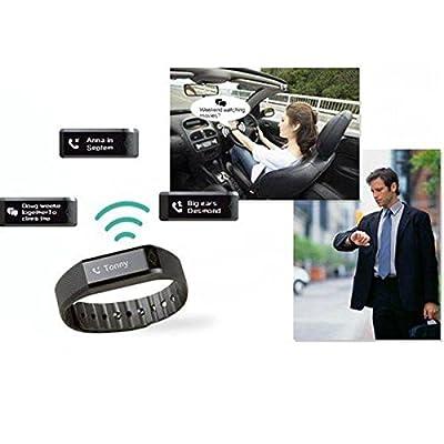 CAMTOA Wireless Activity Sleep Wristband Fitness Band Sleep Monitor Activity tracking, Black