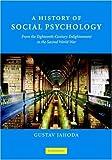 A History of Social Psychology, Gustav Jahoda, 0521868289