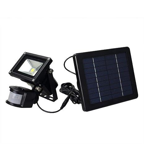 XAJGW Luz Solar Luz de Seguridad con Sensor de Movimiento, Luz Blanca Diurna, IP66 a Prueba ...