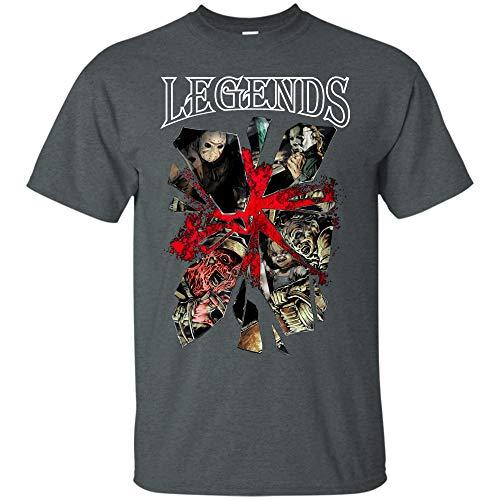 Simblify Creepypasta- Horror-Monster Legends t-Shirt for Men and wonem (Unisex T-Shirt;Dark -