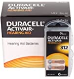 Duracell EasyTab/Activair Type 312 - Pilas para audífonos (zinc, aire, P312, PR41, ZL3, 60 unidades)