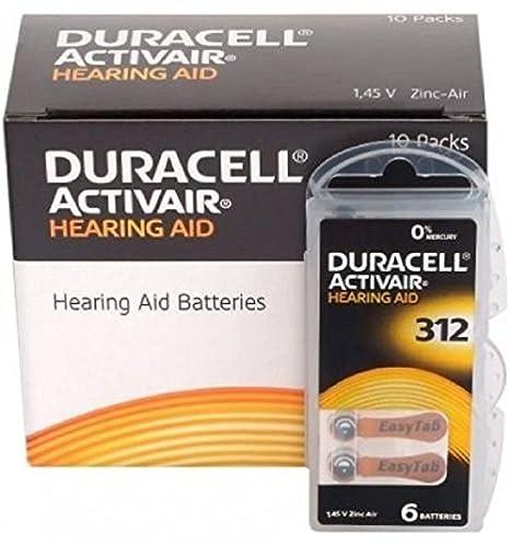 Amazon.com: 60 x tamaño 312/Color café – Duracell Easytab ...