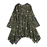 Clearance!Youngh 2018 New Womens Blouses Folded Plus Size Vintage Floral Print Blouses Irregular Loose Long Sleeve cotton Fashion Blouse T Shirt Tops