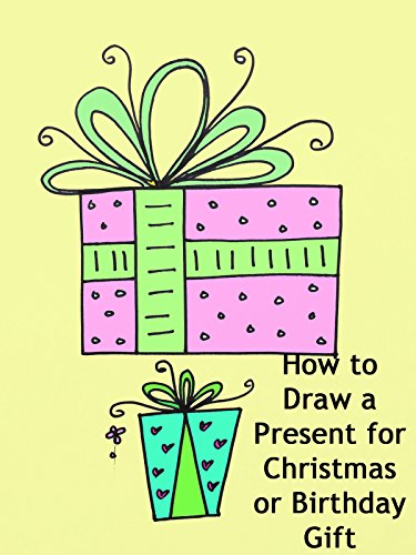 How to Draw a Present for Christmas or Birthday Gift