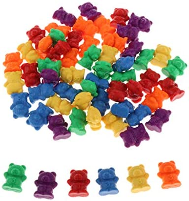 chiwanji ベアカ ウンター 学習リソース インターロッキング 算数キューブ キューブ スナップブロック 約600個入り