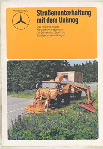 1975 Mercedes Benz Unimog Agriculture Attachments Truck Brochure German from Mercedes Benz