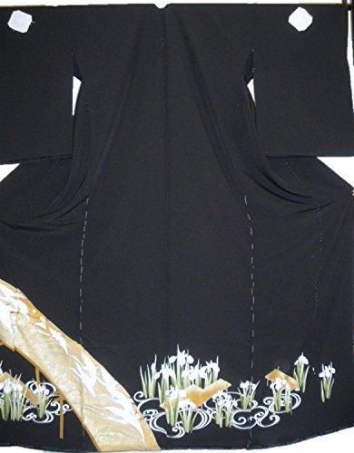 正絹留袖【江戸褄】【浜ちりめん】【在庫処分品】【柄八掛付】【日本製】【未仕立て】