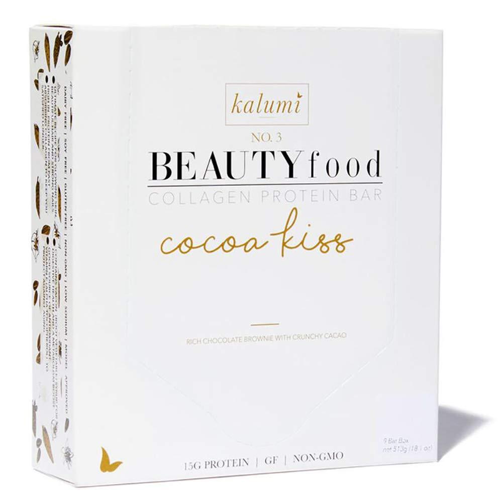 Kalumi Beauty Food Collagen Protein Bar (Cocoa Kiss, 9 Bar Box)