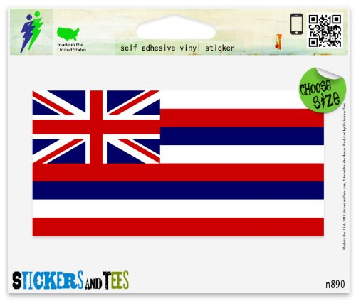 Hawaii Hawaiian State Flag Vinyl Car Bumper Window Sticker 3