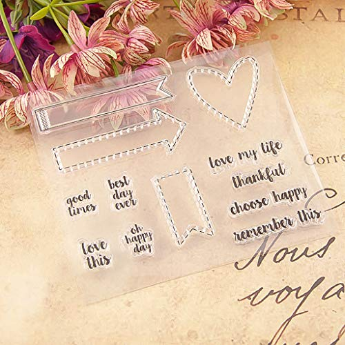 Clear Silicone Stamp/Seal,Transparent Stamp Silicone Seal DIY Clip Art Album Decoration for Cards Making 12×10.5cm (H)