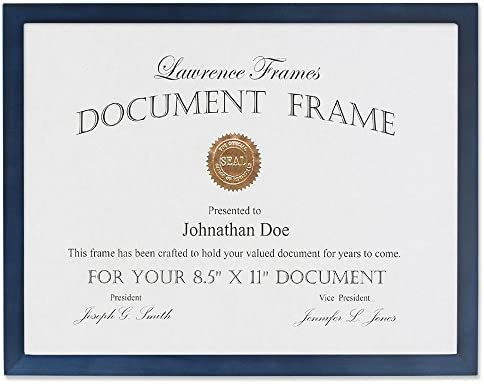 36acac7b06 Buy Lawrence Frames Blue Wood Certificate Picture Frame