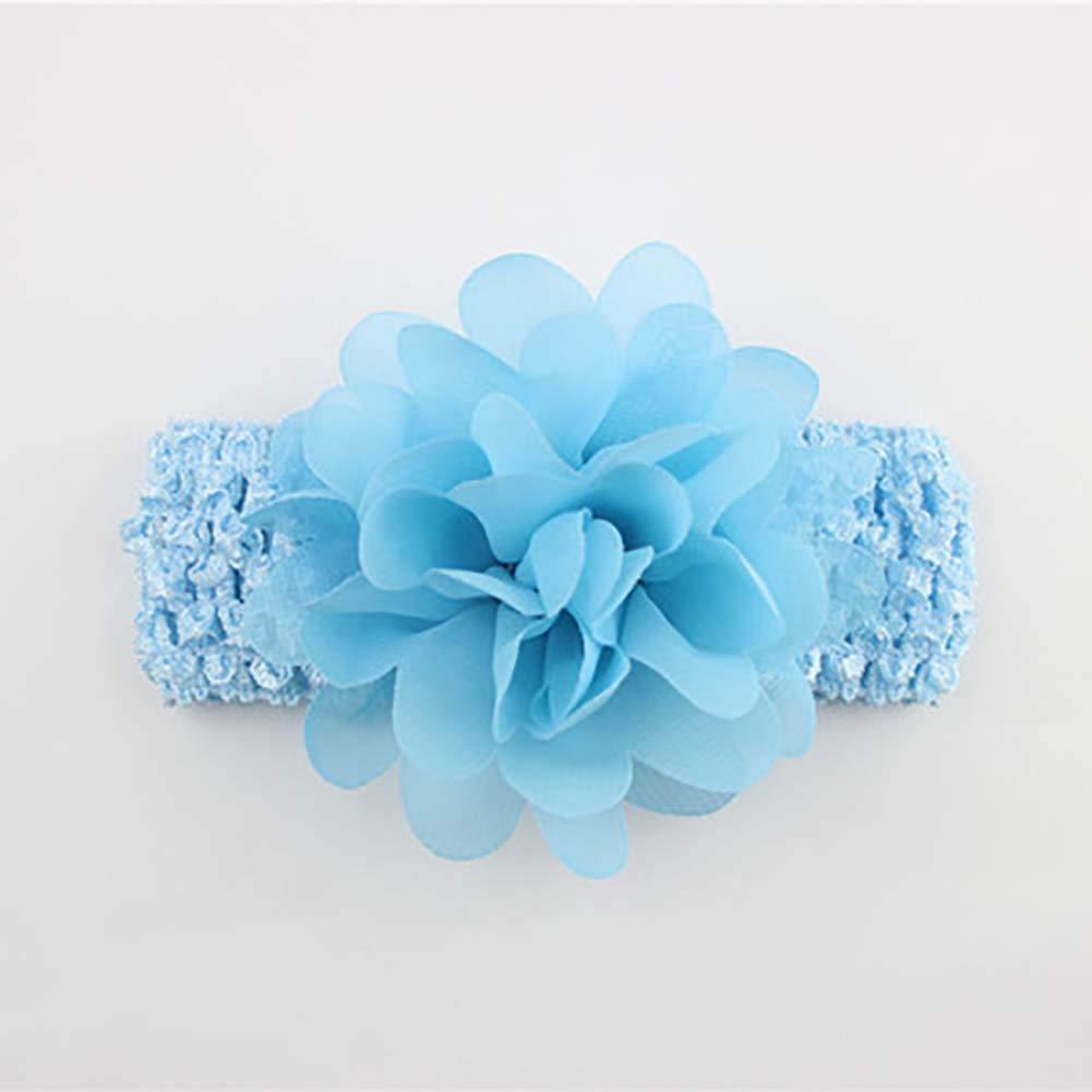 Baby Girls Headbands Chiffon Flower Hair Accessories Lace Band Newborn Headwear