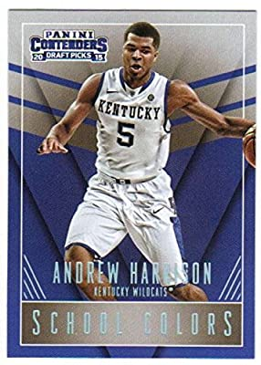 Basketball NBA 2015-16 Contenders Draft Picks School Colors #3 Andrew Harrison NM-MT