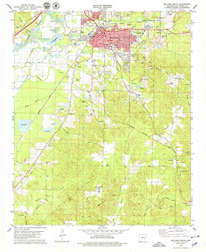 (YellowMaps Malvern South AR topo map, 1:24000 Scale, 7.5 X 7.5 Minute, Historical, 1978, Updated 1979, 26.8 x 22 in - Polypropylene)