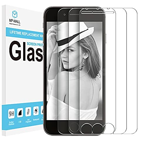 iPhone 6 / iPhone 6S Screen Protector, iPhone 7 Screen Protector, iPhone 8 Screen Protector, [3-PACK] MP-MALL [Tempered Glass] with Lifetime Replacement Warranty, 4.7 (Iphone 3 Protector)