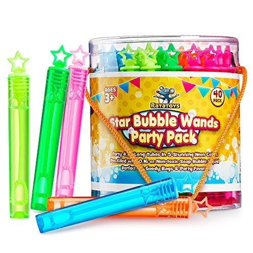 Star Bubble Wands Party Favors Pack Of 40