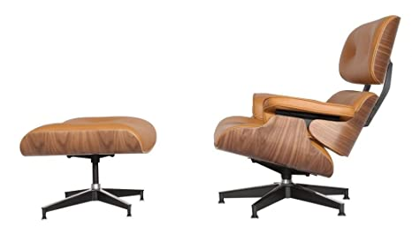 Pleasant Emodern Furniture Emod Mid Century Plywood Eames Lounge Chair Ottoman Aniline Leather Terracotta Light Brown Walnut Beatyapartments Chair Design Images Beatyapartmentscom