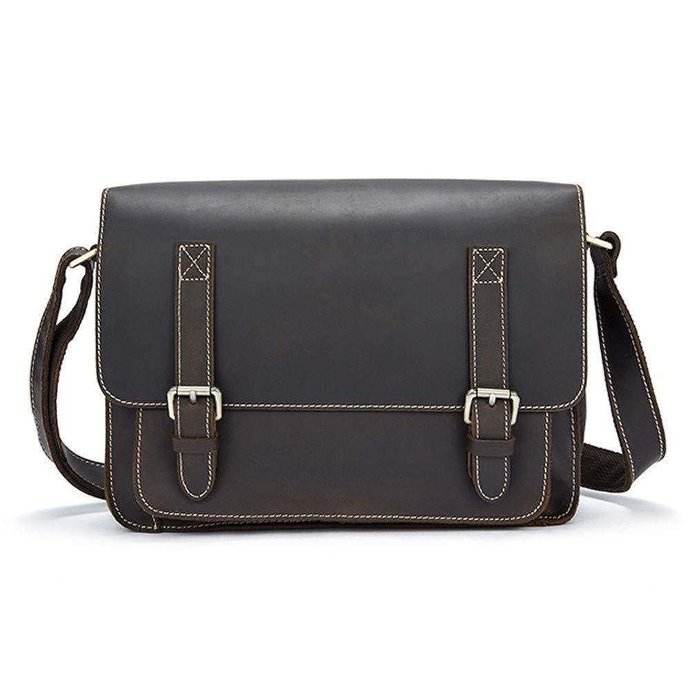 Balalafairy Lightweight Messenger Bag Men's Messenger Shoulder Bag Vintage Leather Briefcase Crossbody Day Bag for School and Work Adjustable Shoulder Strap by Balalafairy (Image #6)