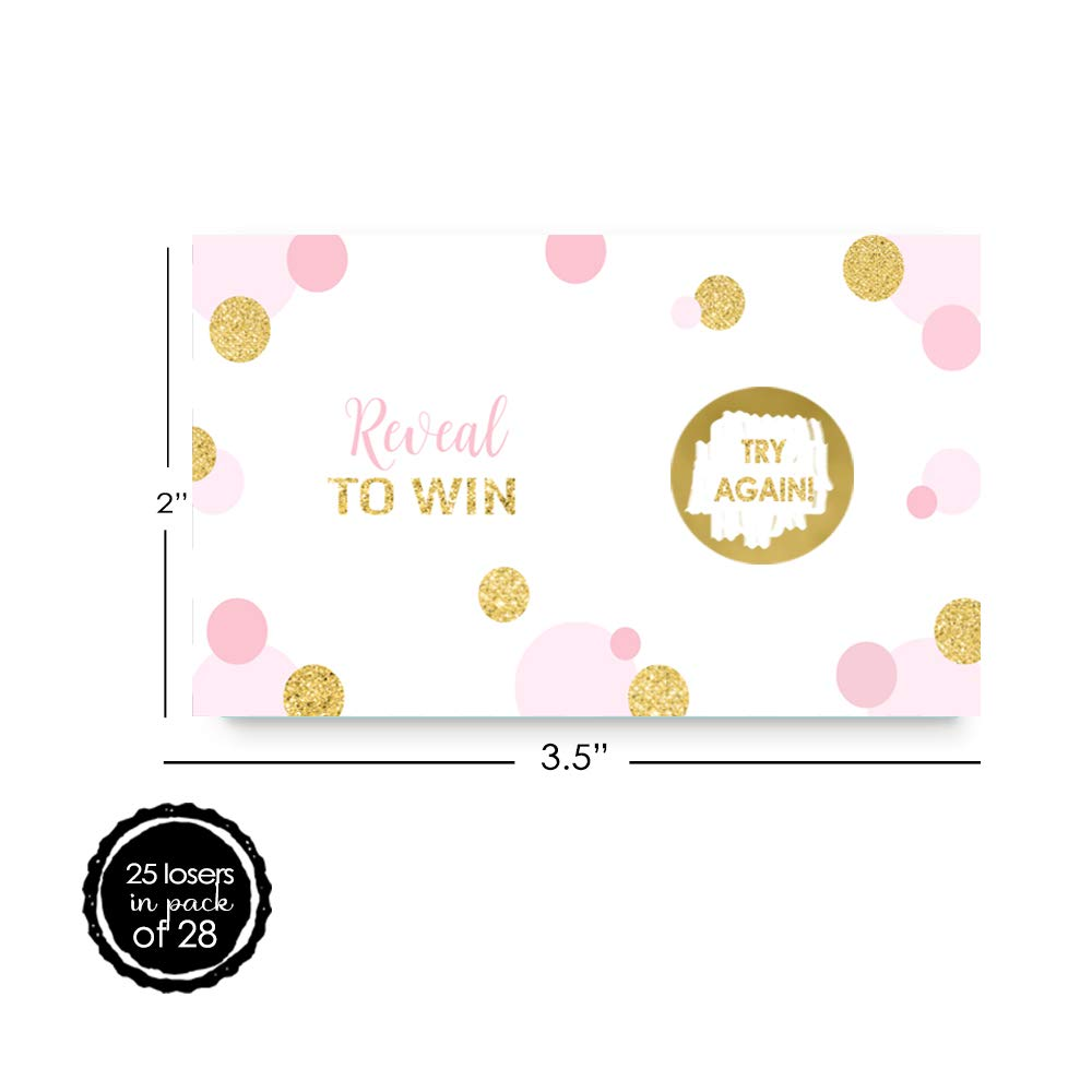 28 pc. Paper Clever Party Pink and Gold Scratch Off Game Card Set