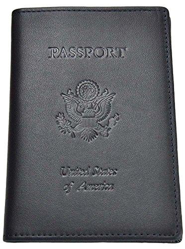 Royce Debossed Leather RFID - blocking Passport Jacket (One Size, Blue) by Royce Leather