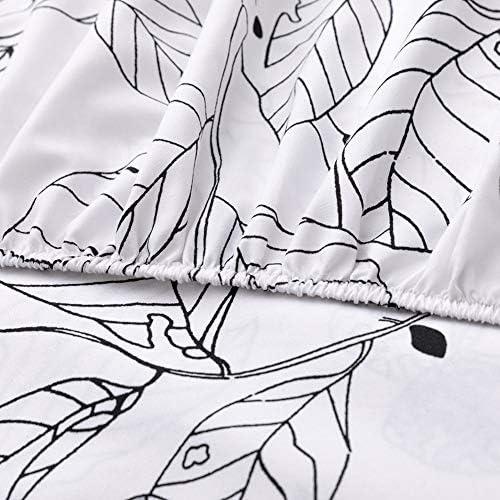 UG1 Feuilles Set Grand lit, draps de Conception de modèle, 4 Ensembles évacuant l'humidité perméable à l'air Durable et Pratique, Gris Clair,259 * 229