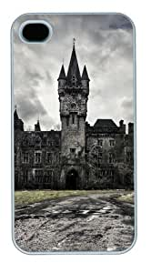 iphone 4S personalized case Old building PC White for Apple iPhone 4/4S