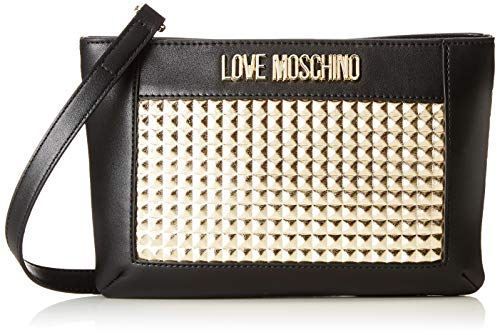 Love Moschino Borsa Calf PU, bolso bandolera para Mujer, Dorado (Oro), 3x16x26 centimeters (W x H x L)