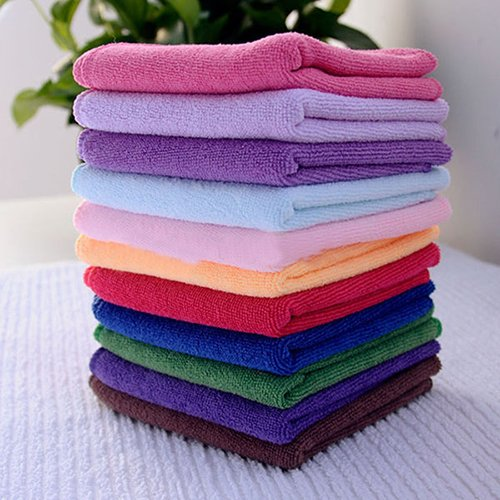 Dry Hair Towel gLoaSublim 10Pcs Microfibre Cleaning Cloth Towel Car Valeting Polishing Duster Kitchen Wash (Best Car Valeting Products)