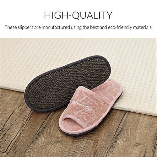 Non Towel Slip Cotton Home for Green House Shoes Indoor Rokgi Women Cleaning Slippers Floor tUXaY