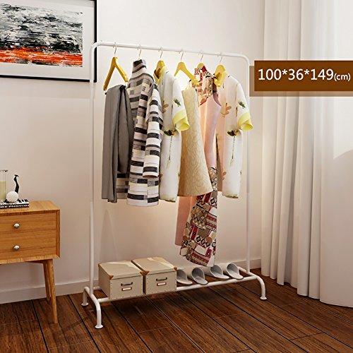 LXLA- Iron Coat Rack Floorstanding Hanger Simple Shelf Bedroom Vertical Organizations Hanger Continental Multifunction Economic Type 100×36×149cm (Color : White) by LXLA-Coat rack