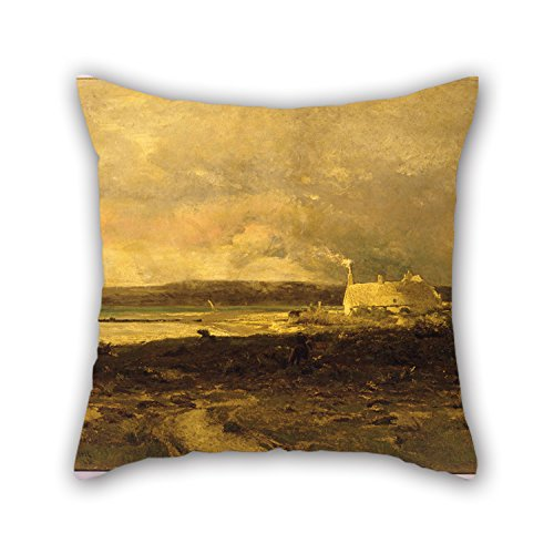Artistdecor 20 X 20 Inches / 50 By 50 Cm Oil Painting William Lamb Picknell - Cottage By The Sea Cushion Covers,twin Sides Is Fit For Teens,divan,dance Room,coffee House,deck Chair ()