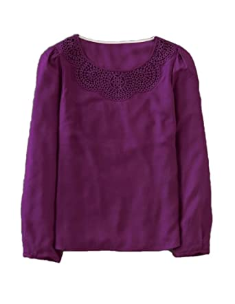 af5408dcb49 Image Unavailable. Image not available for. Color: Boden Victoria Eggplant  Purple Top Blouse Shirt Tunic Size ...