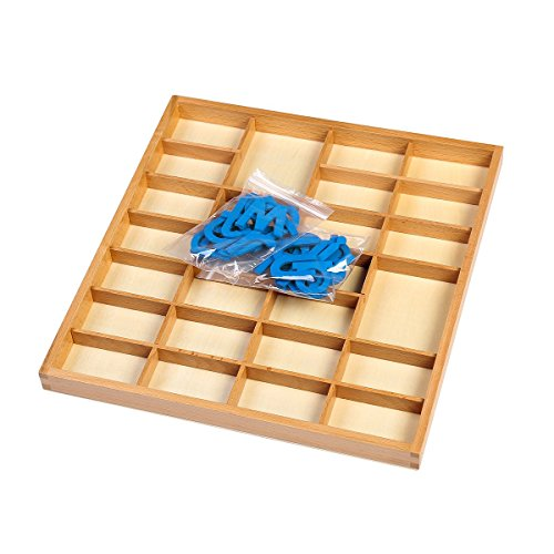 EOFEEL Montessori small Wooden Movable Alphabet with Box for Early Preschool Learning Toy(Blue) by EOFEEL (Image #4)