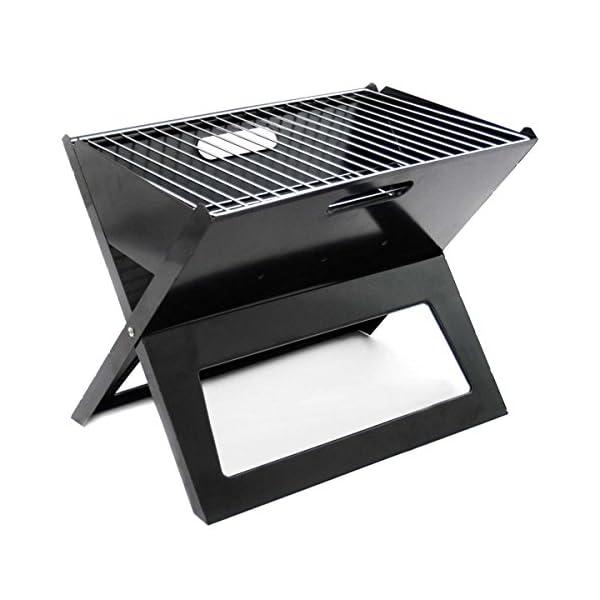 Griglia pieghevole - Griglia pieghevole Notebook BBQ Grill Griglia a carbone pieghevole per la strada Griglia portatile… 2 spesavip