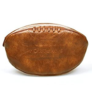 Klassische Portland Rugby Ball Kulturtasche Herren Braun Vintage Reise Sport...