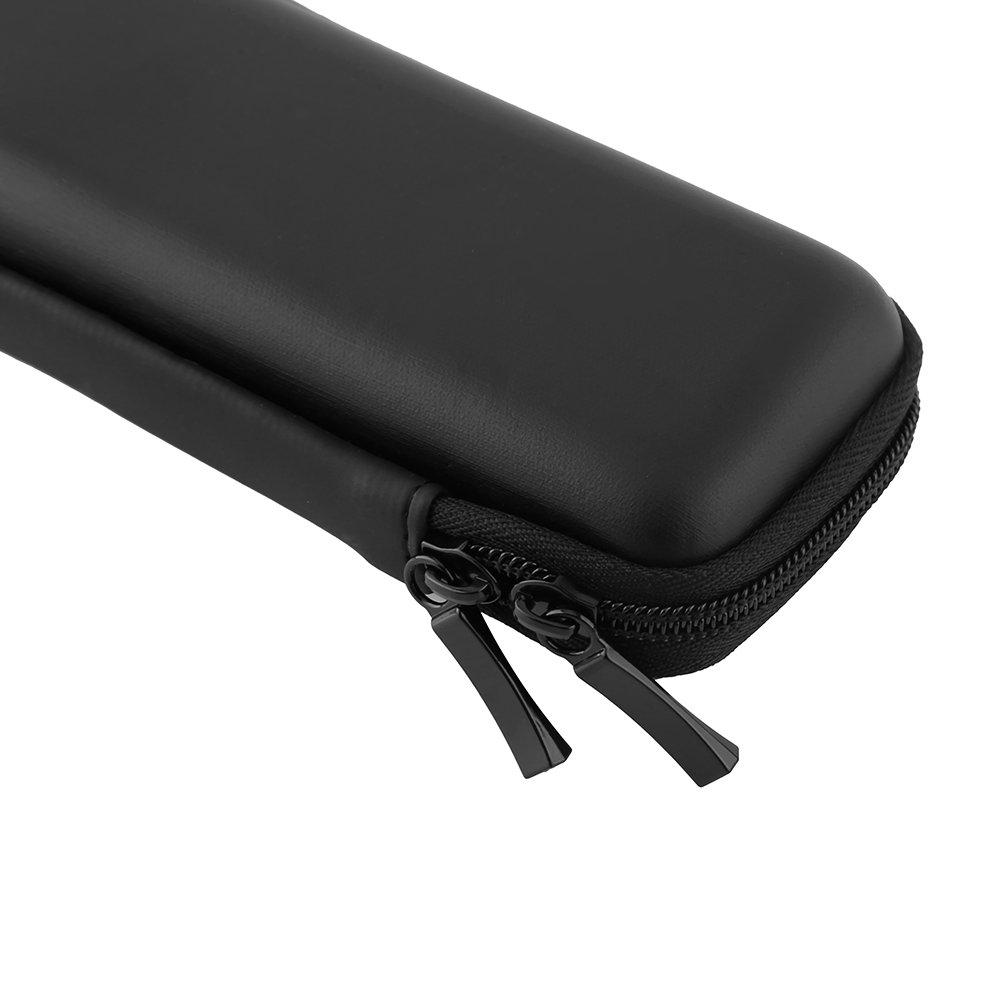 Black EVA Shell Pen Pencil Case Portable Pouch Stationery Holder for Fountain Pen Ballpoint Pen USB Cables Earphones Makeups Office School Supplies