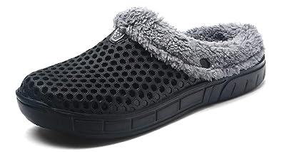 code promo 23865 8b6e7 YOOEEN Sabots Mules Pantoufles de Maison Chaussons d'hiver ...
