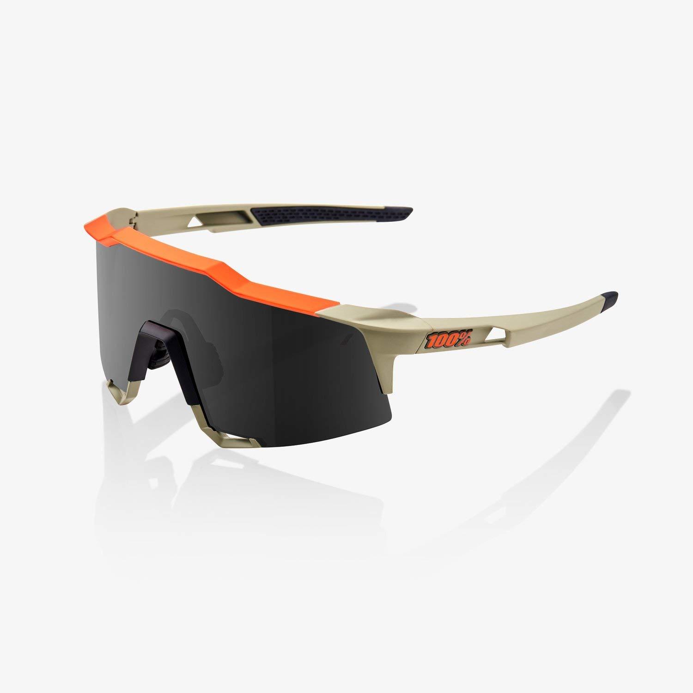 100% Speedcraft Sunglasses-Soft Tact Quicksand-Smoke by 100%