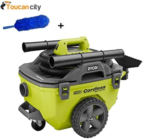 Ryobi 6 Gal. Wet Dry Vacuum P770 and Toucan City Flexible Static Duster – Battery NOT included