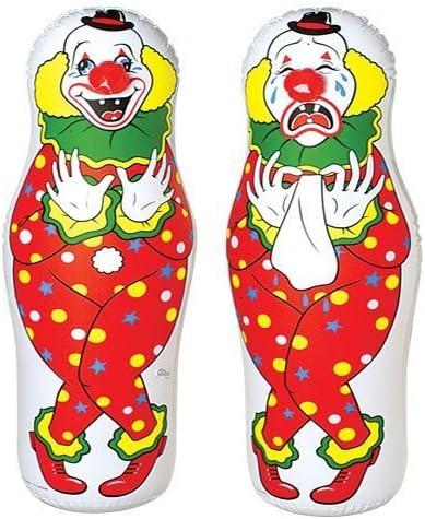 Amazon Com One Clown Bop Bag Punching Clown Toys Games