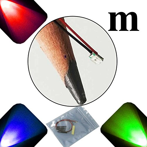Lighthouse LEDs 10 x 12 V 0807/0805 Chip/Micro SMD gran angular pre-cableado Ultra brillante LED – RGB Slow Auto cambio –...