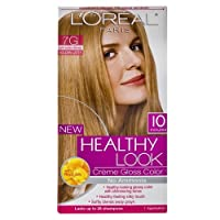 L'Oreal Paris Healthy Look Hair Color, 7G Dark Golden Blonde/Golden Latte