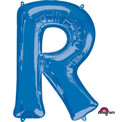 Anagram 35435 Letter R Blue Foil Balloon 34