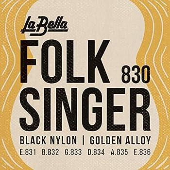 la bella 830 string type folksinger set black nylon guitar strings medium. Black Bedroom Furniture Sets. Home Design Ideas