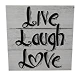 Gianna's Home Rustic Farmhouse Distressed Wood Plank Board Sign (Live Laugh Love)