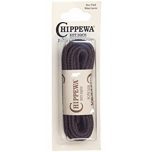 18a3c2b30cd2b Amazon.com: CHIPPEWA 54 in. Waxed Boot Laces Brown: Shoes