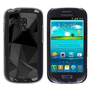 Be Good Phone Accessory // Dura Cáscara cubierta Protectora Caso Carcasa Funda de Protección para Samsung Galaxy S3 MINI NOT REGULAR! I8190 I8190N // Geometrical Modern Art Black Gre
