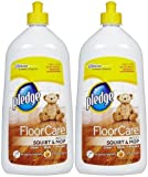 Pledge FloorCare Wood Squirt & Mop - Lemon - 27 oz - 2 pk