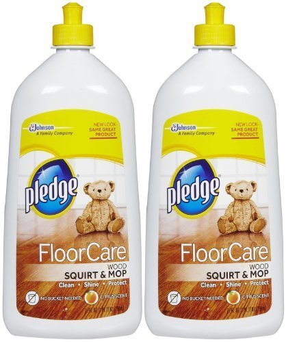 Pledge FloorCare Wood Squirt & Mop - Lemon - 27 oz - 2 pk