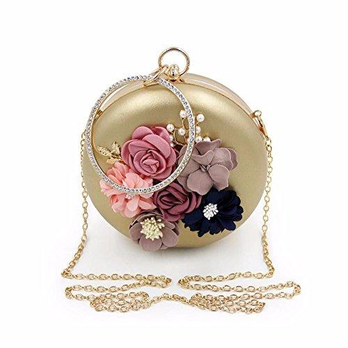 de 2018 de de en Golden autour haute de pearl black perles qualité sexy sac soirée brodées soirée sac robe nouveau fleurs diamants 6a6814rW
